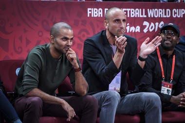 Manu Ginóbili esta vez estuvo acompañado por Tony Parker