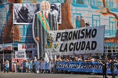 Un Lula gigante frente al Congreso