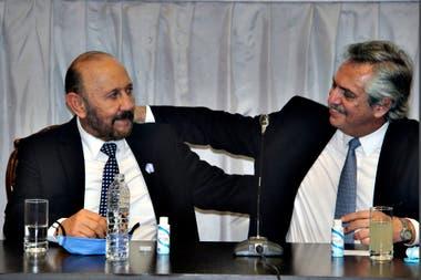 El gobernador de Formosa, Gildo Insfrán, y Alberto Fernández, durante la última visita presidencial a la provincia