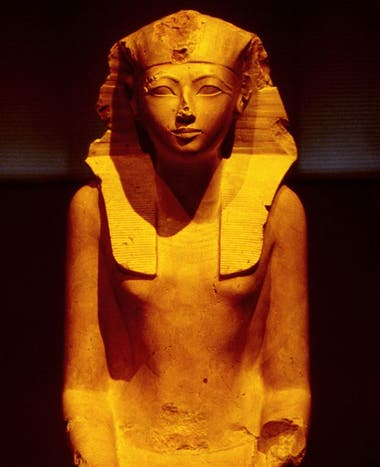 Cuando Hatshepsut pasó de ser regente a faraona, su imagen se empezó a transformar