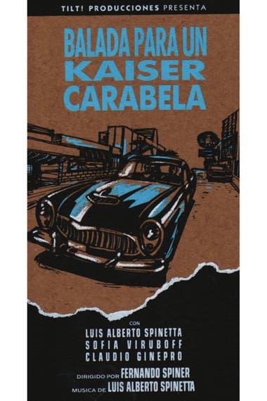 El cortometraje Balada para un Kaiser Carabela (1987), de Fernando Spiner, tiene al Flaco Spinetta de protagonista