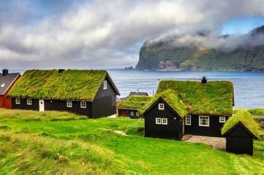 Una postal de las islas Feroe.