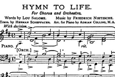 """Primeras líneas del """"Himno a la vida"""", poema escrito por Salomé que Nietzsche musicalizó"""