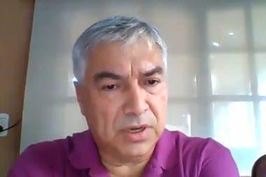 Lázaro Báez, durante su última testimonial, desde un lugar secreto