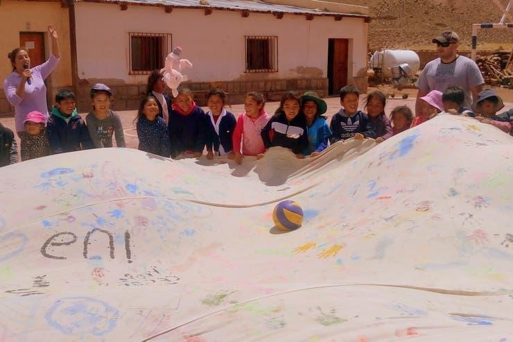 Los alumnos de la Escuela N° 363 de Puesto Sey, Jujuy