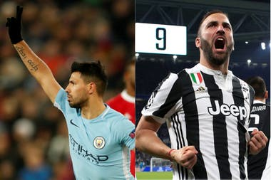 Agüero y Higuaín, implacables en Europa
