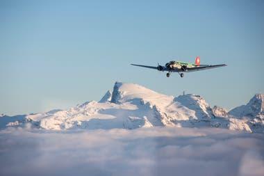 La aeronave antigua se utilizaba para vuelos panorámicos turísticos