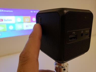La perilla para realizar el foco de la imagen del proyector