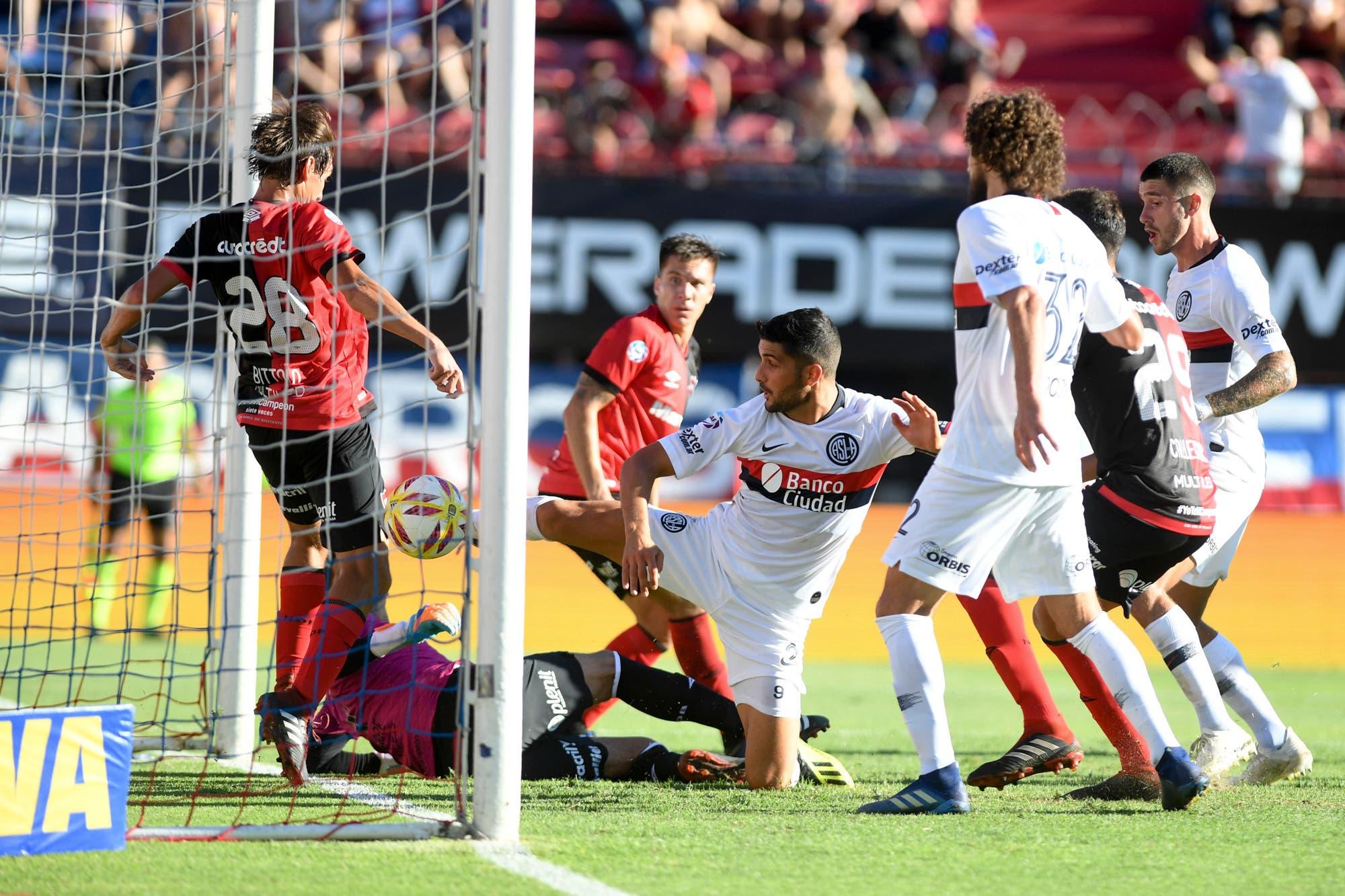 San Lorenzo y Newell's, el partido de los goles polémicos en el Nuevo Gasómetro