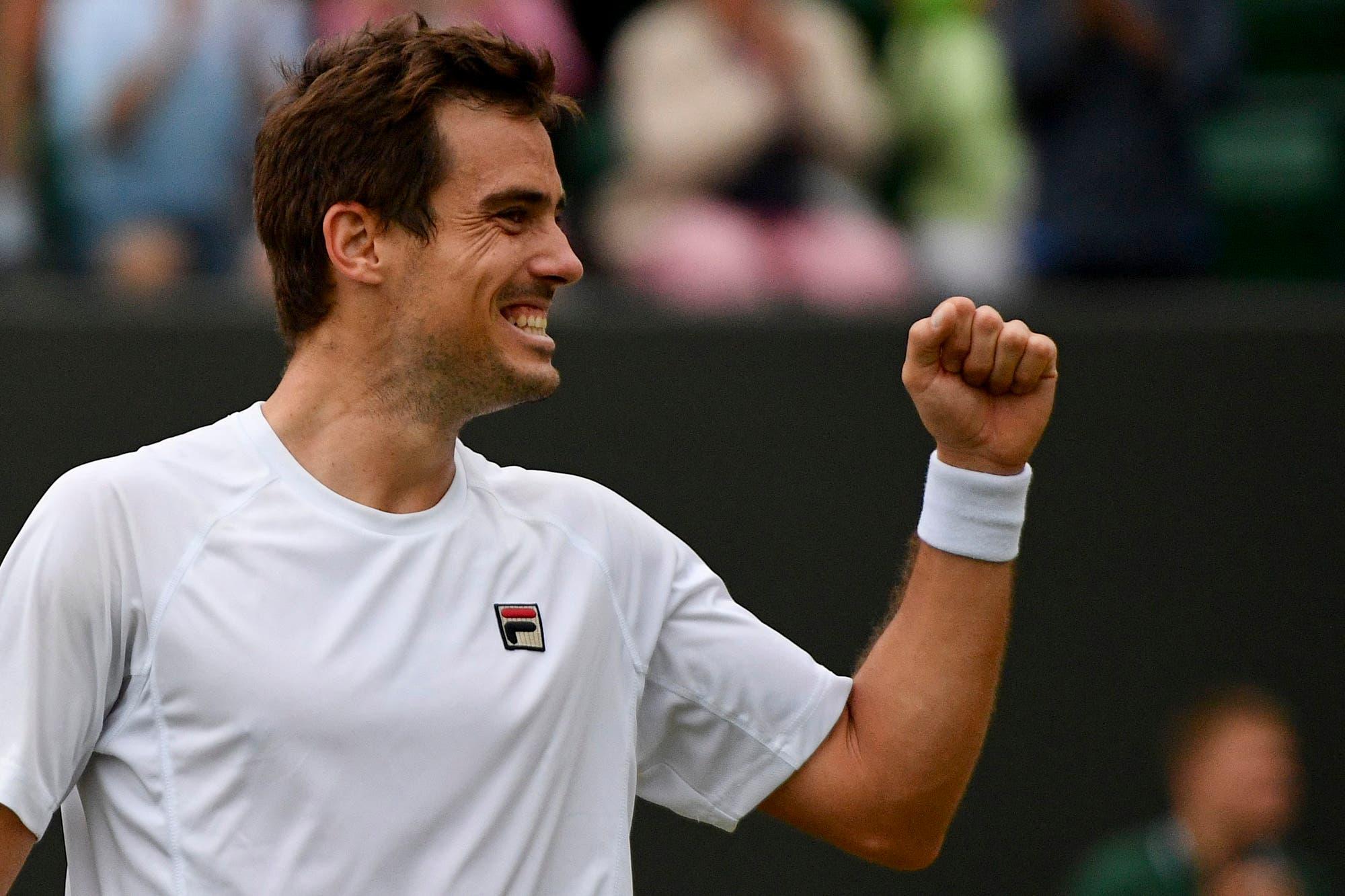 """La alegría de Pella en Wimbledon: """"El tenis me demostró que puede ser muy malo y muy bueno"""""""