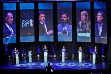 Los candidatos presentes en el debate