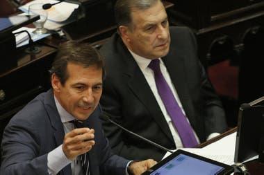 El jefe del interbloque de Juntos por el Cambio, Luis Naidenoff
