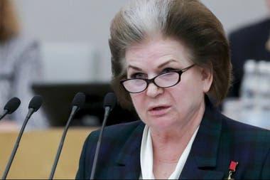 La diputada de Rusia Unida Valentina Tereshkova