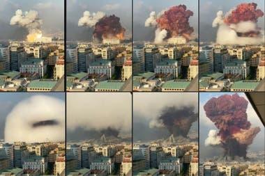 La explosión, en secuencia