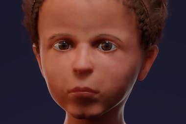 Los investigadores emplearon estándares de niños modernos de entre 3 y 8 años de edad con el objetivo de reconstruir el grosor de su piel.