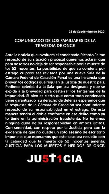 Le concedieron la libertad a Ricardo Jaime por la tragedia de Once pero seguirá preso por otras dos causas