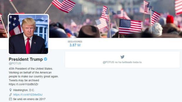 Presidente nuevo, twitter nuevo: la cuenta de @POTUS ya es de Donald Trump