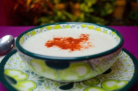 Receta de Sopa fría de choclo