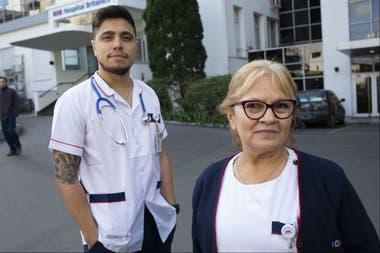 Jeremías Vázquez y Hermenegilda Acosta, enfermeros del Hospital Británico