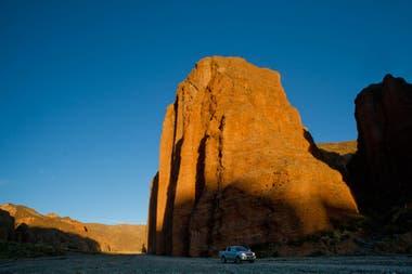 Los altos farallones de la Quebrada de Cabrería, a pocos kilómetros de Santa Catalina..