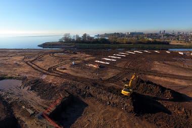En este predio se est construyendo la nueva sede del Tiros Federal Argentino la obra contina a buen ritmo y se espera que finalice este ao a pesar de la pandemia