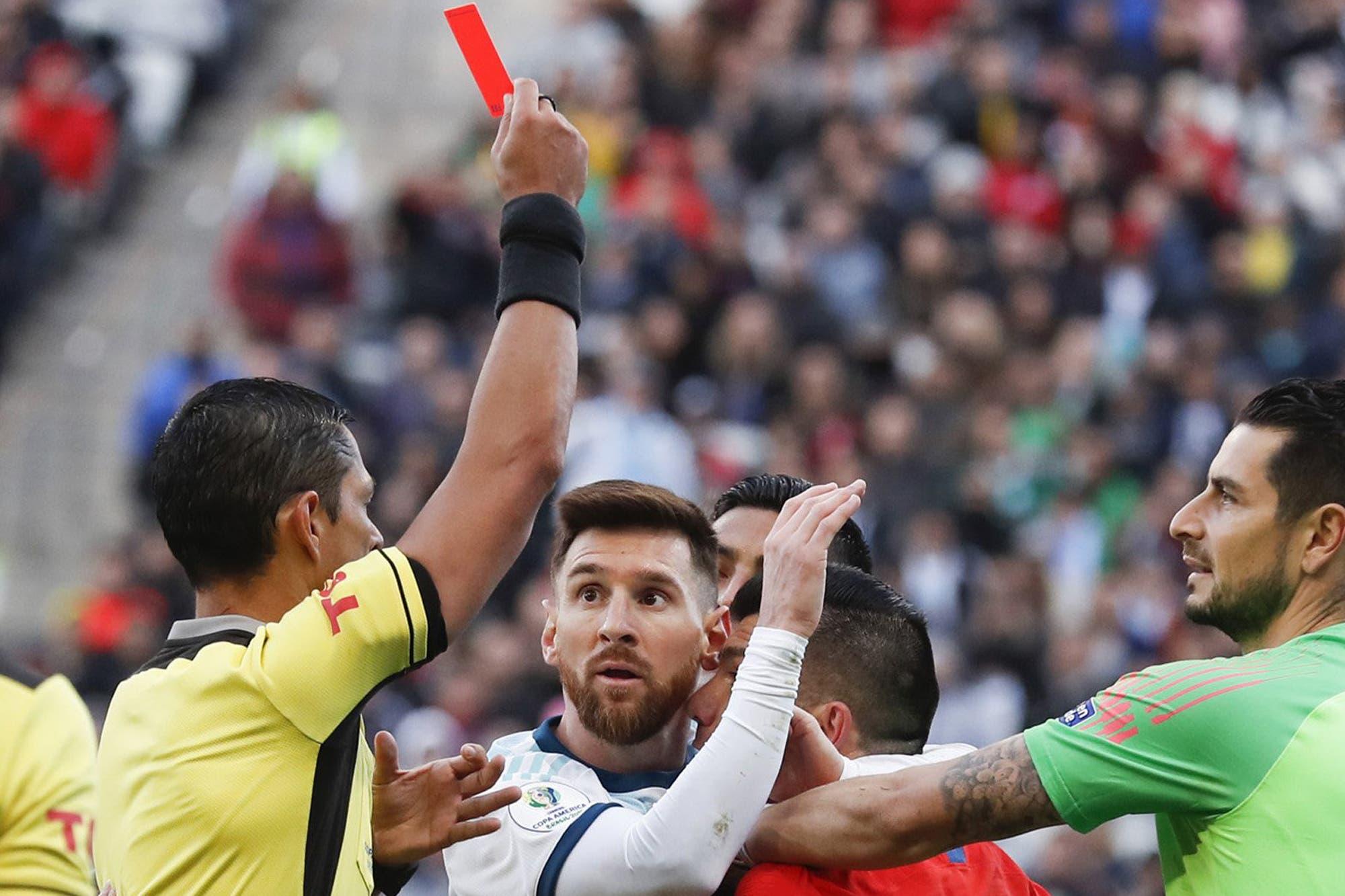 Lionel Messi y un mínimo castigo: sólo se perderá un partido por su roja en la Copa América