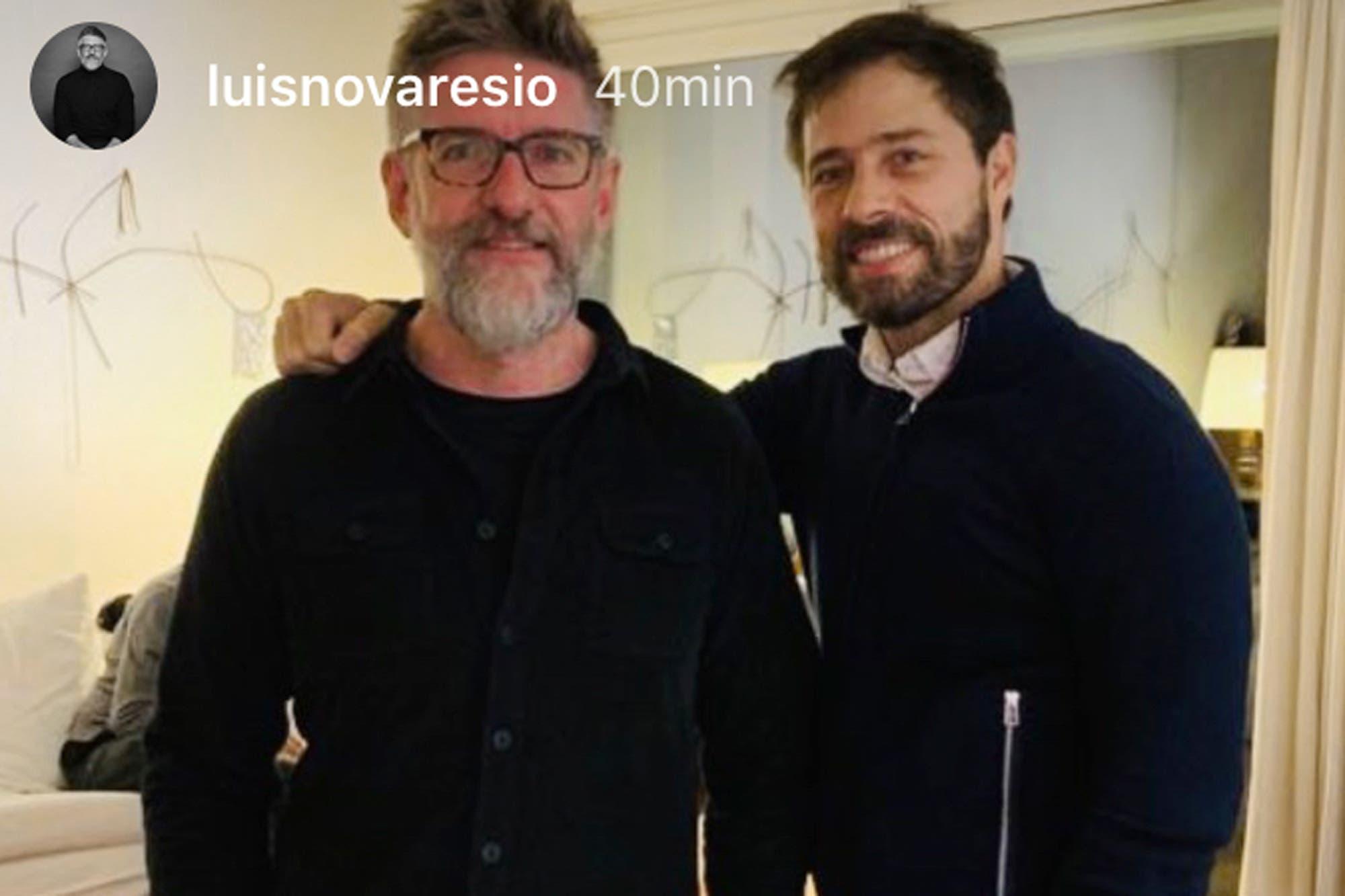 Luis Novaresio compartió una romántica foto junto a su novio, Brailio Bauab