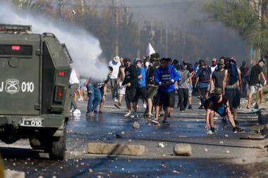 Protestas en distintas zonas de Santiago de Chile