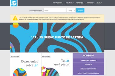 NIC Argentina anunció la apertura del registro de dominios .AR para todo el público, a partir del 15 de septiembre