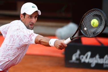 Novak Djokovic jugará la final en Roma, este lunes.