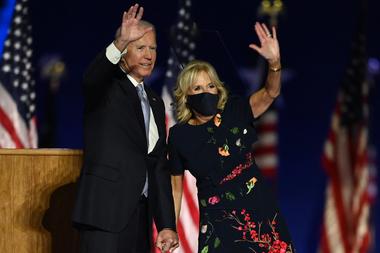 El presidente electo de Estados Unidos Joe Biden y la primera dama Jill Biden