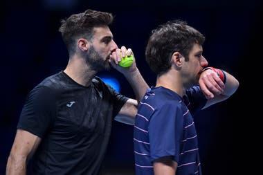 Marcel Granollers y Horacio Zeballos, química y coordinación dentro y fuera de la cancha; el español y el argentino debutaron con un éxito en el dobles del Masters de Londres.