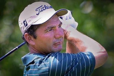 José Coceres durante el Byron Nelson Classic, en Texas; fue en 2001, año en que ganó dos títulos del PGA Tour