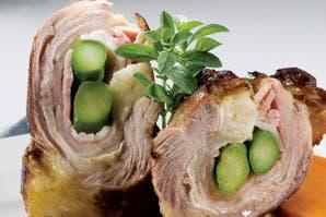 Vaci-roll de cordero con verduras