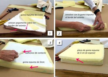 Recicl los asientos de tus sillas la nacion - Espuma para tapizar sillas ...