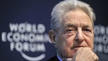 George Soros, durante el World Economic Forum