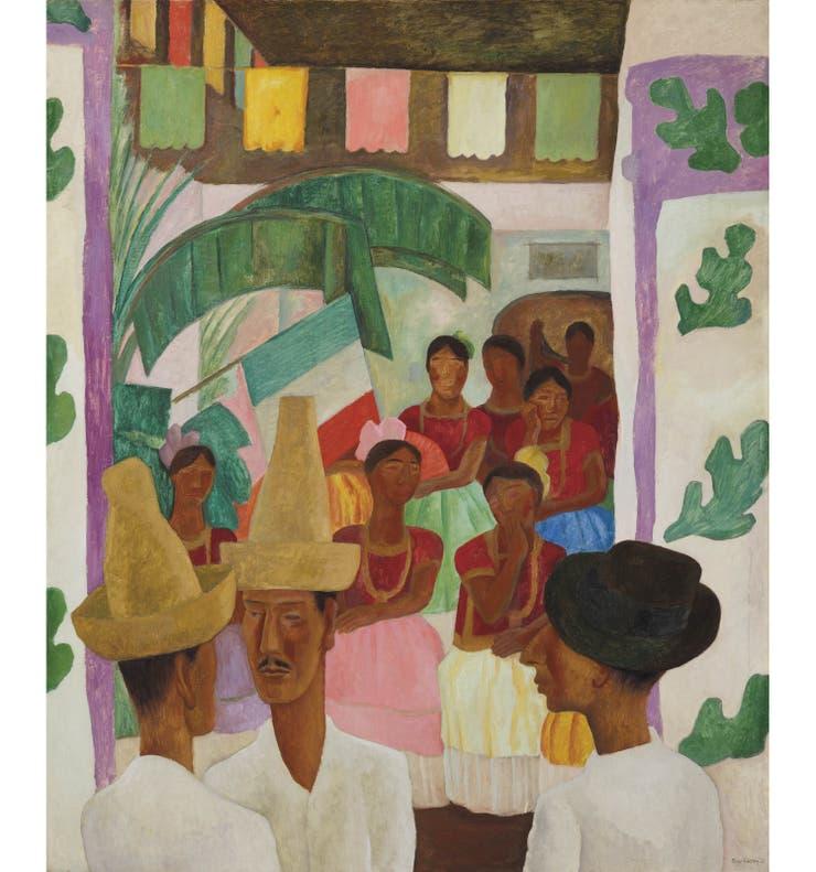 Los rivales (1931) fue encargada a Diego Rivera por Abby, la madre de David Rockefeller, quien la heredaría una década más tarde como regalo de su boda con Peggy.