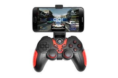 Gamepad para el celu. Se conecta por Bluetooth y lo fabrica Panacom ($ 899)