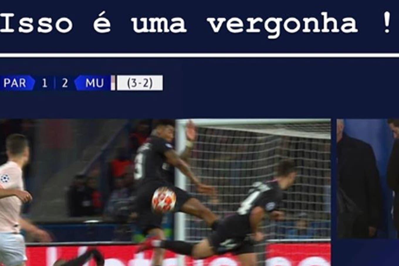 Neymar disparó contra el VAR con un duro mensaje en su cuenta de Instagram