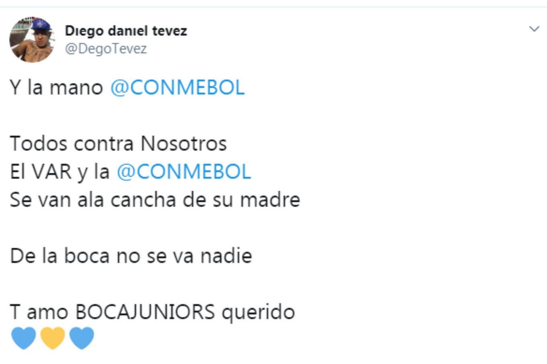 """""""De la Boca no se va nadie"""": los amenazantes mensajes del hermano de Tevez en las redes sociales"""