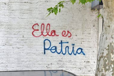 Pintadas en las calles de Pilar, provincia de Buenos Aires