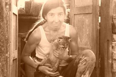 Kai Pacha con Talita de cachorra.