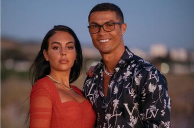 Cristiano with his girlfriend Georgina Rodríguez