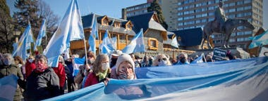 La protesta en Bariloche