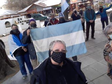 La protesta en El Calafate