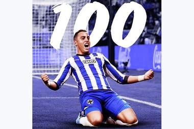 En Monterrey superó la barrera de los 100 goles: metió 110 y está a 11 de alcanzar el récord histórico de Chupete Suazo