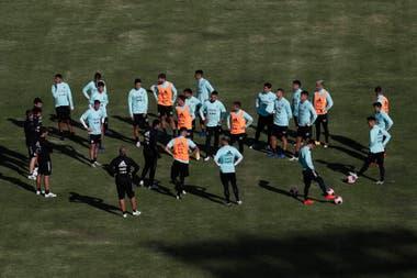 El seleccionado argentino hizo su último entrenamiento previo durante el lunes