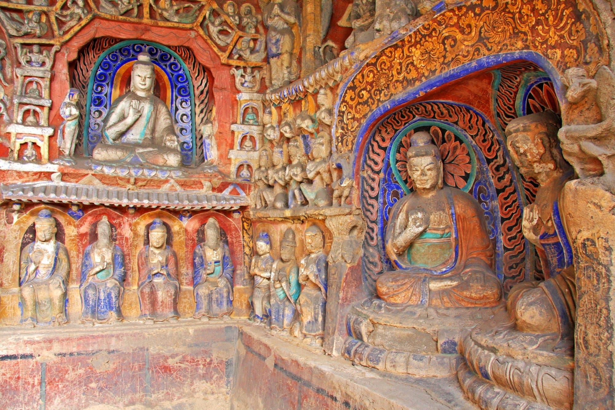 Grutas de Yungang: crearon una réplica exacta de dos cuevas con impresoras 3D para llevar su arte al mundo