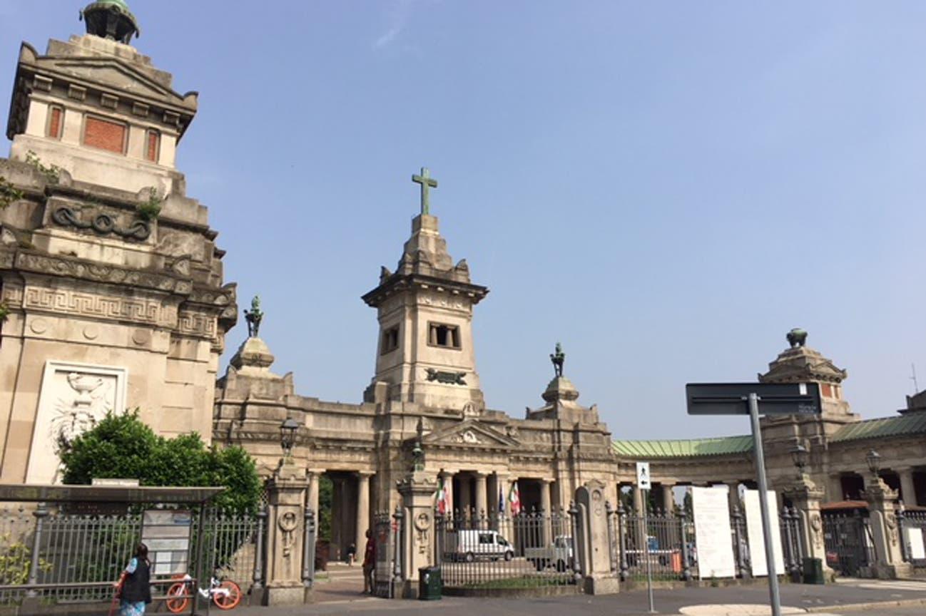 En este cementerio de Milán, Evita estuvo sepultada durante años bajo otro nombre