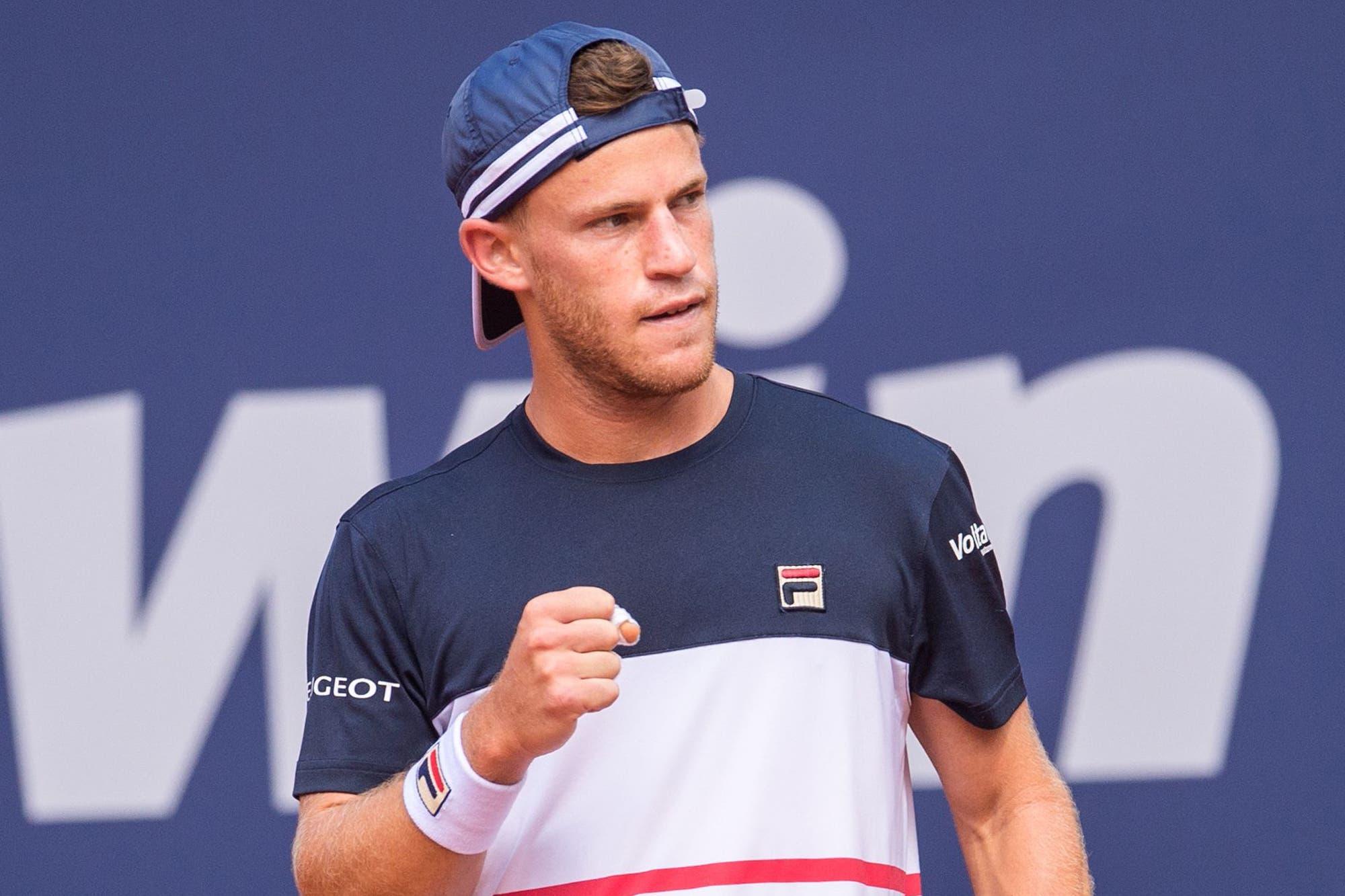 Diego Schwartzman juega ante Daniel Masur en el ATP 500 Hamburgo
